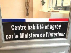 Centre habilité et agréé par le ministère de l'intérieur
